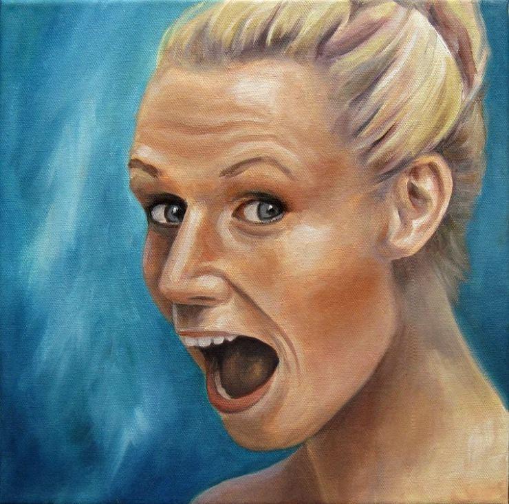 Nadine Portrait Kunst, Ölmalerei Gemälde Painting