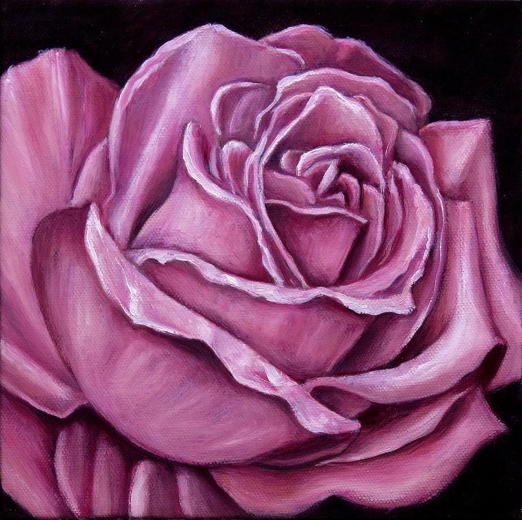 Pink Rose Kunst Malerei Ölgemälde Painting