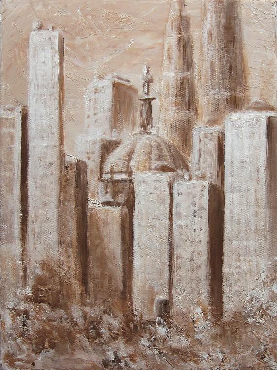 Stadt Sepia, Kunst, Malerei gemälde Painting
