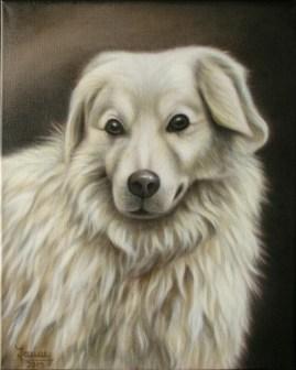 Hund, Airbrush Portrait, Gemälde