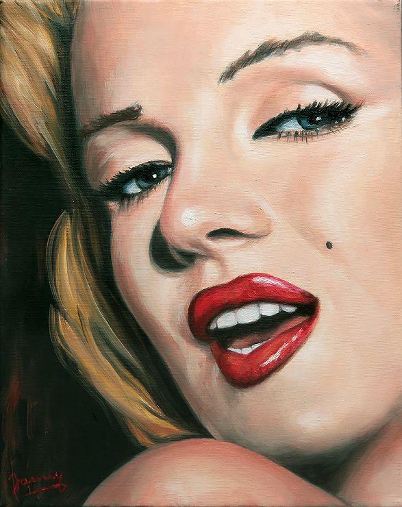 Marilyn Portrait Kunst Ölgemälde Malerei