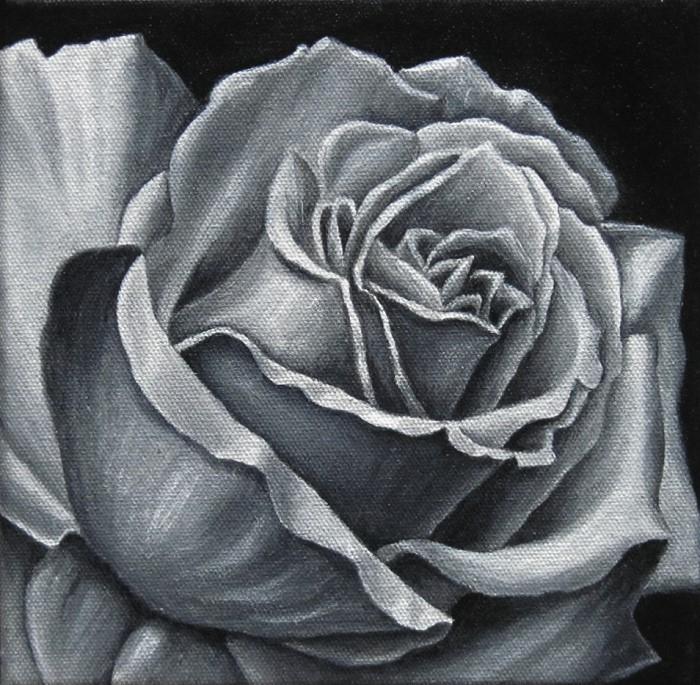 Rose acryl Kunst Malerei Ölgemälde Painting