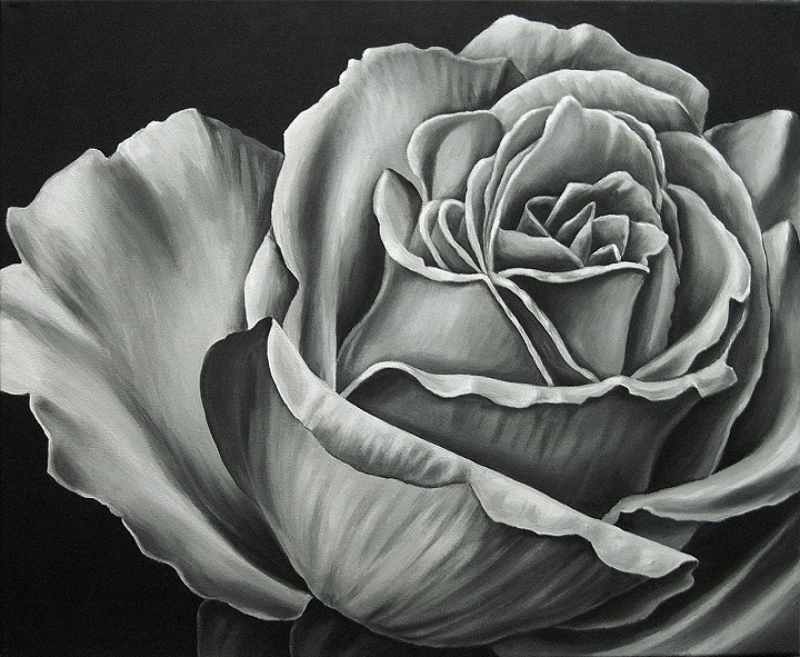 Rose , Kunst, Malerei Gemälde Painting
