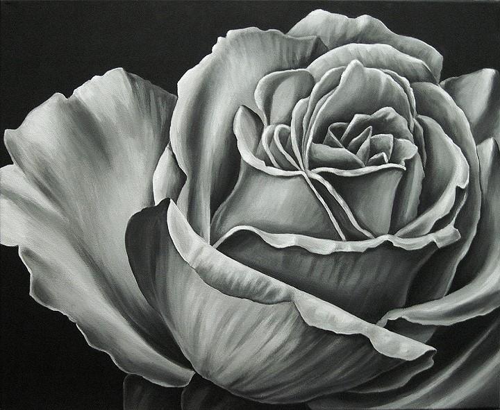 Rose acryl, Kunst Malerei Gemälde Painting