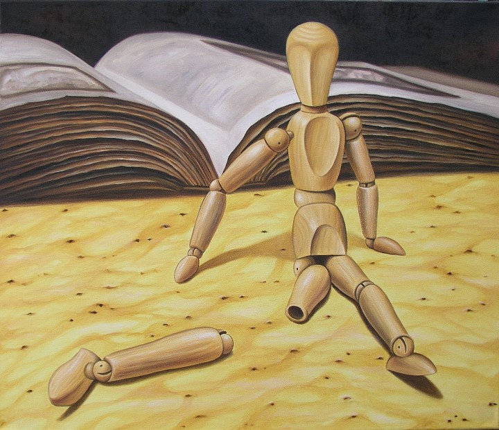 Armer kleiner Freund, Kunst, Malerei Ölgemälde Painting