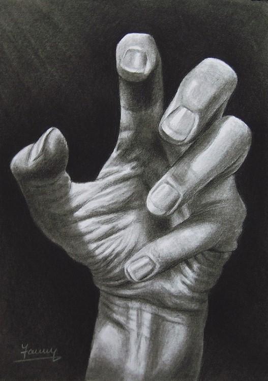 Hand Kohlezeichnung, Kunst, Malerei Gemälde Painting