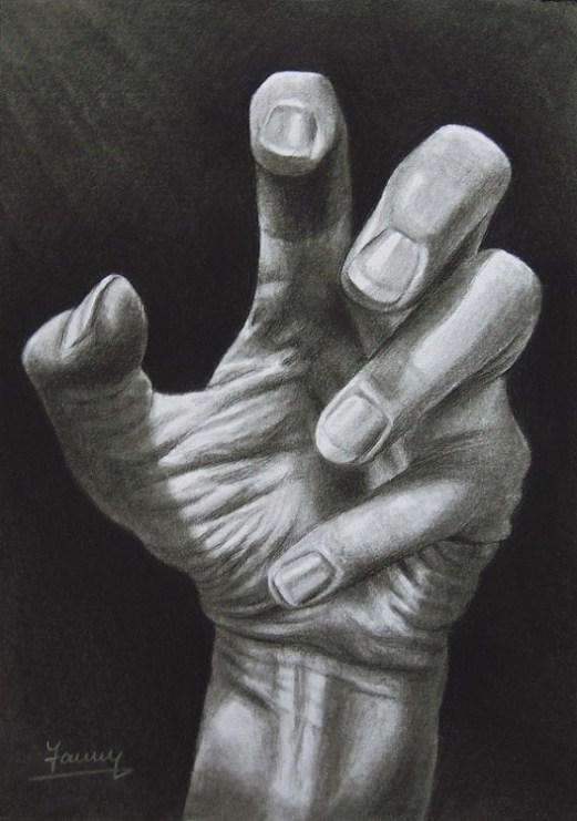 Hand Kohlezeichnung Kunst Malerei Gemälde zeichnung