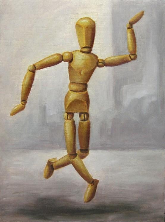 Holzi tanzt Kunst Malerei Gemälde Painting Stillleben