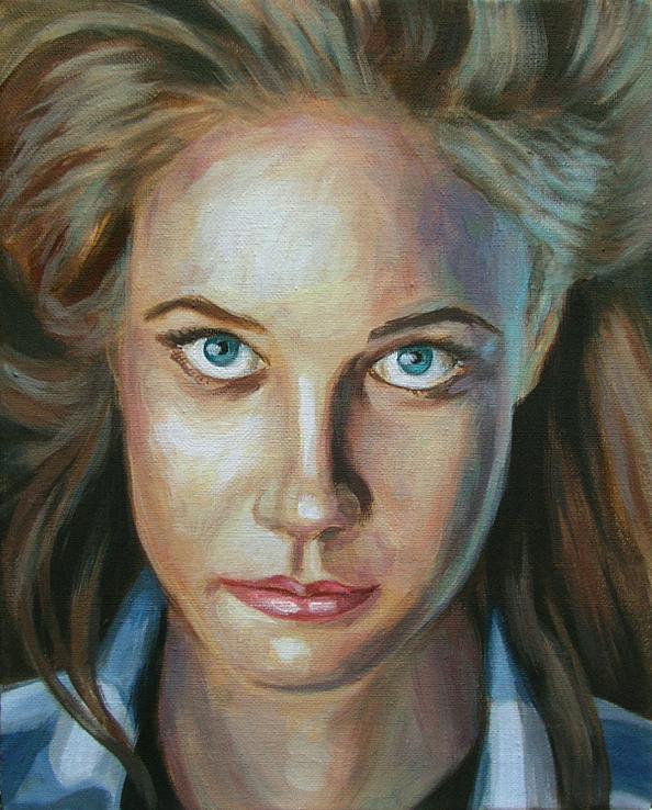 nicole, Portrait Malerei Acrylmalerei Painting
