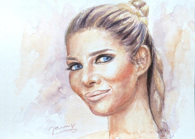 Mica, Aquarell Kunst Malerei Portrait
