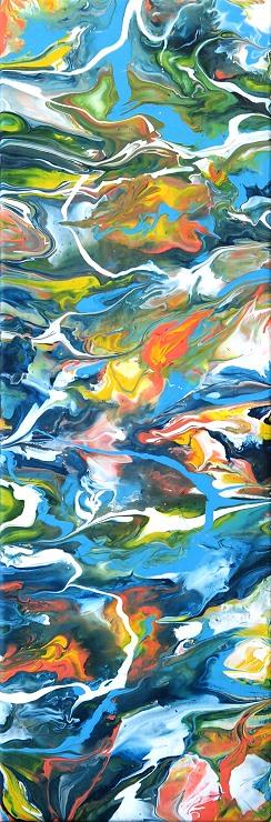 Color8 Fluidpainting, Malerei, Gemälde