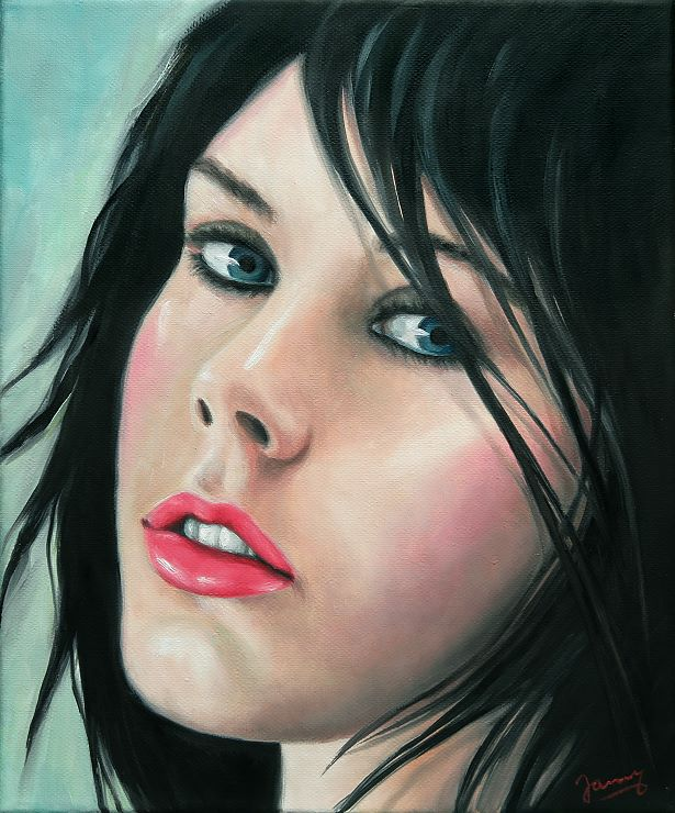 Christina Portrait Kunst Malerei Gemälde