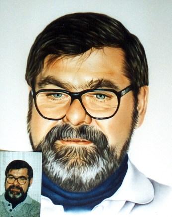 Airbrush Portrait Gemälde