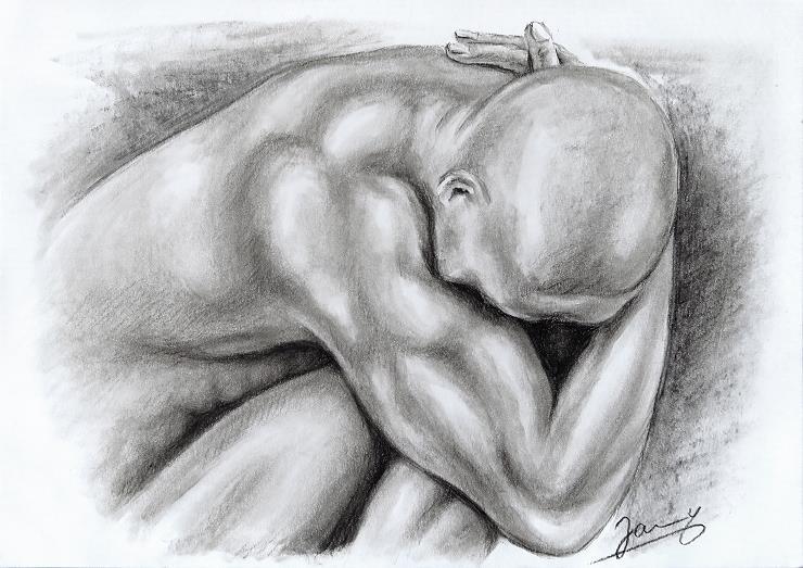 Kohlezeichnung kunst malerei zeichnung