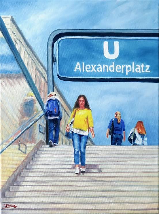 Berlin Alexanderplatz Gemälde Kunst Malerei