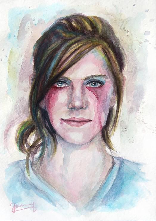 mädchen Aquarell malerei portrait kunst