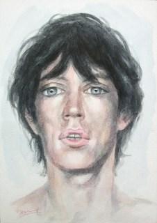 Mick 1973 Aquarell Kunst Malerei