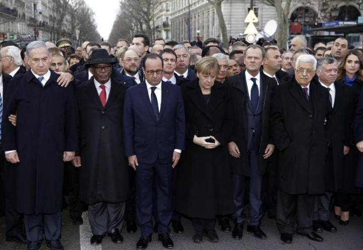 Press photo of the March in Paris on January 11, 2015