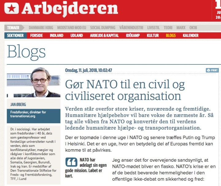 Gør NATO til en civil og civiliseret organisation