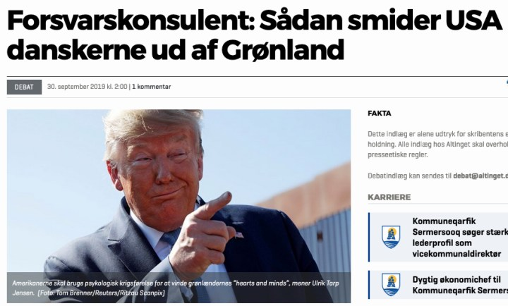 Grønland: Konflikt med USA