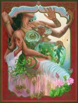 Auto Erotic Immolation (2005, oil) Heidi Taillefer artist