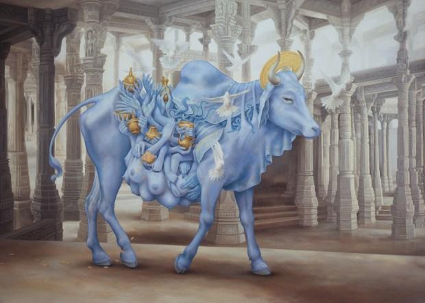 Govinda and the Heiffer Nymph (2007 oil)