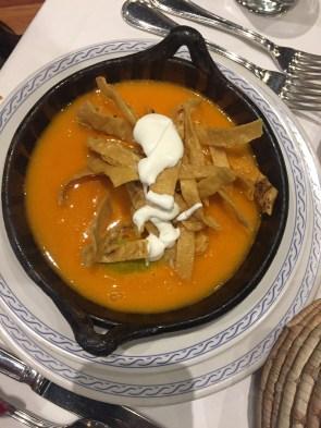 Tortilla soup in Mexico City