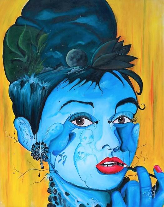 Eric Santerre Femme en bleu