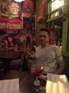 Nicholas Savage drinking a beer
