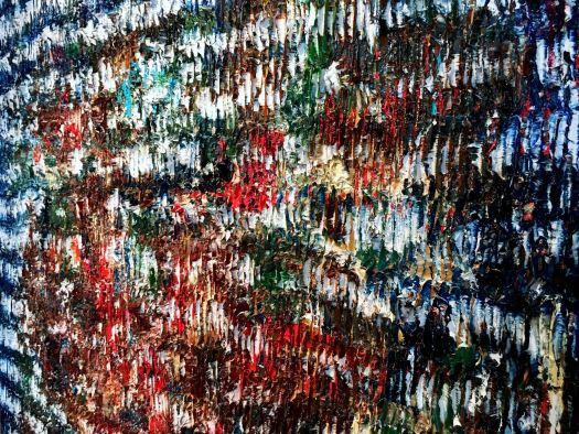 Magic Carpet Ride - Sculptural oil painting by Louis-Bernard St-Jean