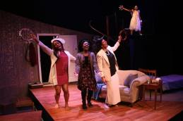 Black Theatre Workshop. How Black Mothers Say I Love You play. Cast sings Gospel song after getting home from church