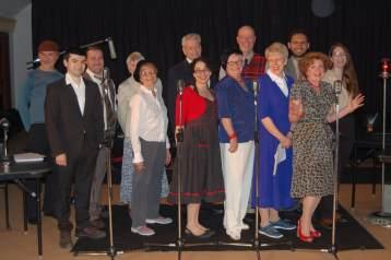 Cast of Vintage Hitchcock - Dramatis Personae Spring 2018. Photo: Westmount Community Theatre