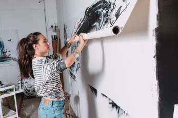The artist in her Montreal Studio. Photo: Jon Rose Photo Montreal