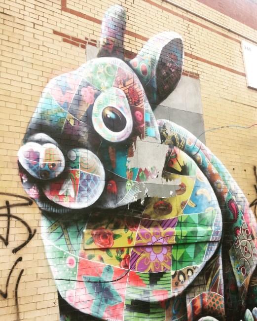 Brooklyn graffiti bunny