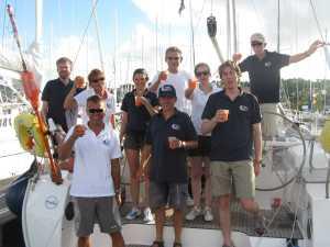 Wir fühlen uns alle als Sieger, denn wir haben das uns selbst gesteckte Ziel erreicht: Über den Atlantik zu segeln und darauf sind wir sehr stolz.