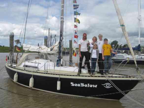 Fokko und Familie an Bord