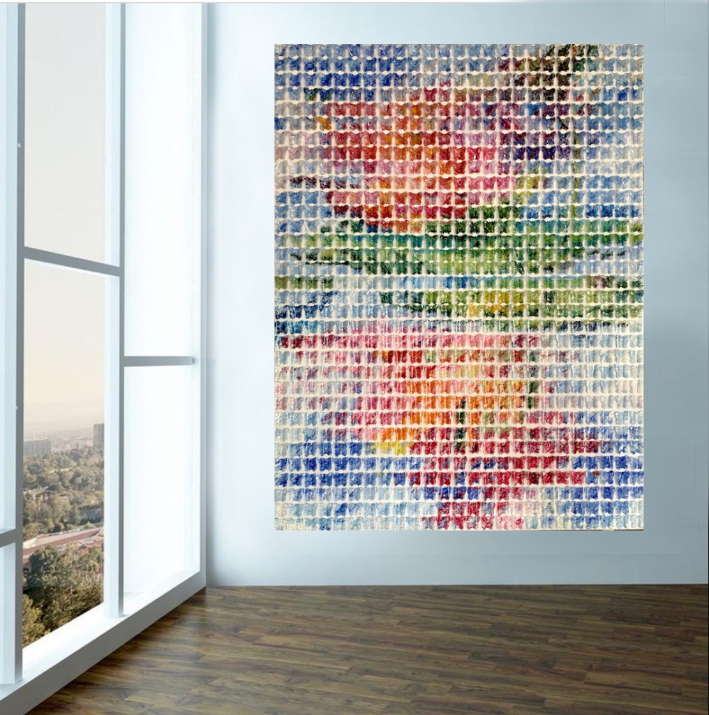 sustainable art, recycled plastic water bottle butterflies, abstract art