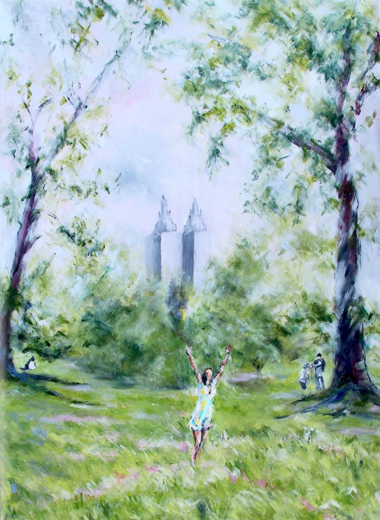 woman dancing in c Central Park New York City