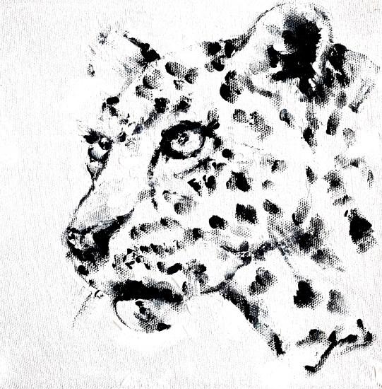 impressionist painting cheetah