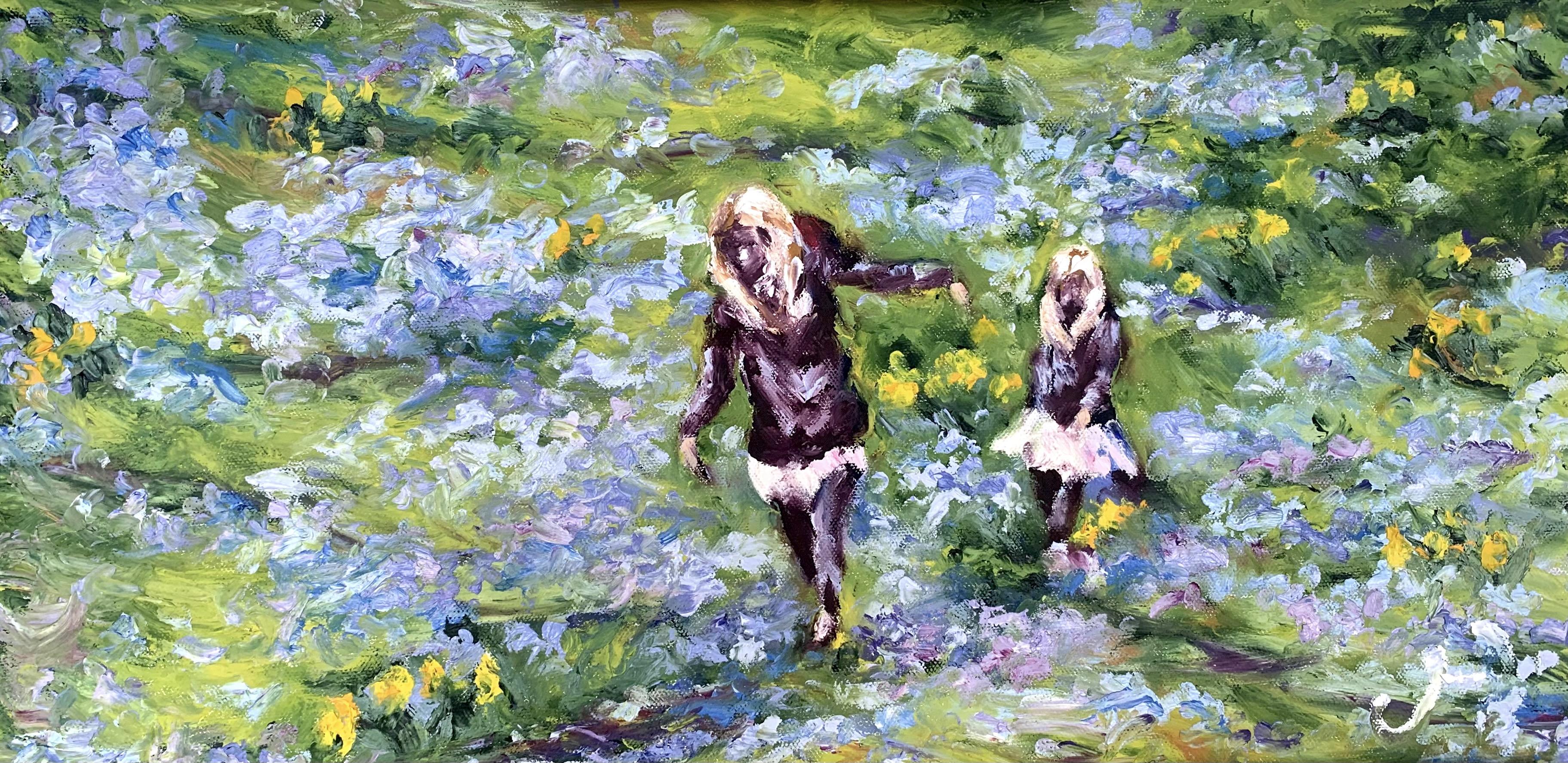 Impressionist Painting Girls Blossoms Copenhagen