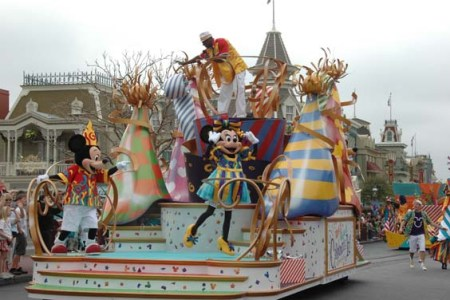 Parades are a lot of fun to watch but if you prefer shorter lines at the attractions and restaurants, go during parade time.