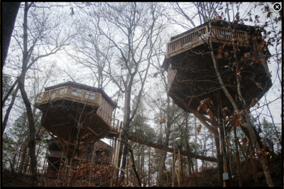 Treehouses at Historic Banning Mills in Whitesburg, Georgia