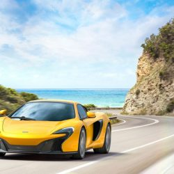 Picture yourself tooling around Europe in this beauty, the McLaren 650s. You're looking pretty good, right?