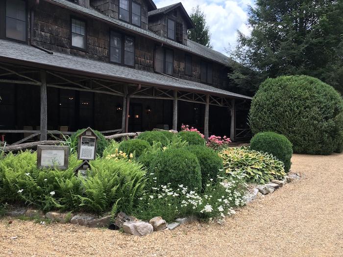 side gardens of High Hampton Inn