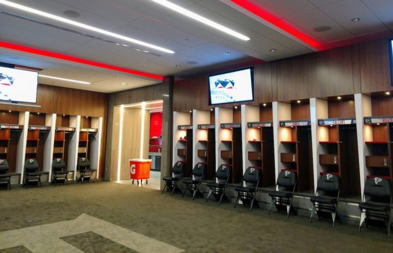 Atlanta Falcons stadium, locker room