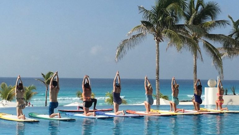 Le Blanc paddle board class