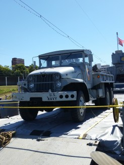 Original heavy duty hauling/transport truck, LST 325. (Original photo by P. Rickrode.)