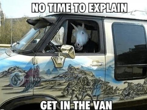 no time to explain unicorn