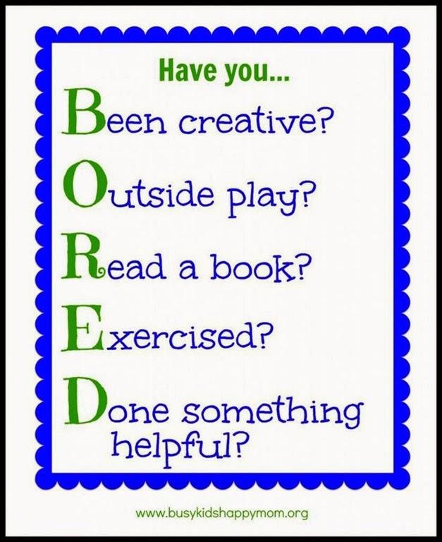 B.O.R.E.D. acrostic
