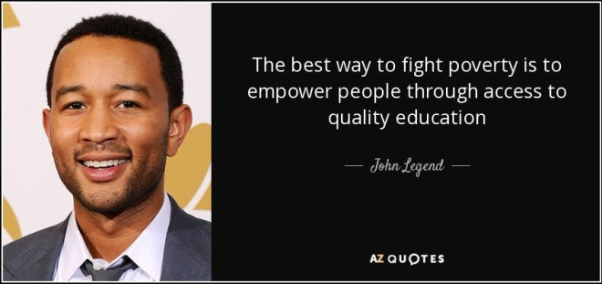John Legend thinks schools should nurture all of children's talents, and empower them to be creative.